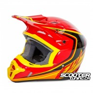 Helmet Fly Kinetic Full Speed Red/Black/Yellow