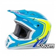 Helmet Fly Kinetic Full Speed Blue/Hi-Vis/White