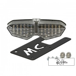 Tail Light R6 Style with Bracket (Clear)
