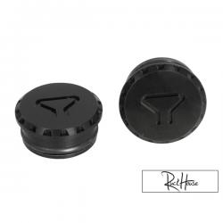 Aluminium Frame Cap MML Gear Black Honda Ruckus