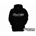 Hoody Stage6, Black, Unzipped