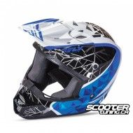 Helmet Fly Kinetic Crux Blue/Black/White
