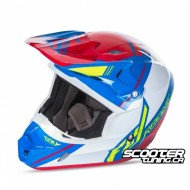 Helmet Fly Kinetic Trey Canard Blue/White/Red