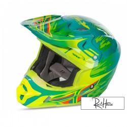 Helmet Fly Kinetic Andrew Short Teal/Hi-Vis/Yellow