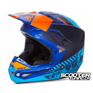 Helmet Fly Kinetic Elite Onset Blue/Orange