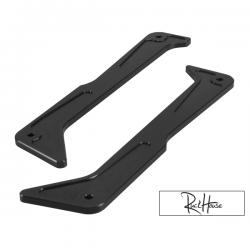 Billet Step Rails TRS Black Honda Ruckus