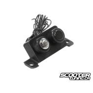 Battery Cover Light Button TRS Black