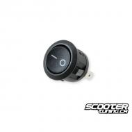 Switch round black universal (20mm)