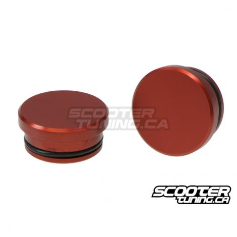 Aluminium Frame Cap TRS Red Honda Ruckus - Distribution Scootertuning