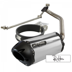Exhaust Two Brothers Racing Aluminum Black Fatty GY6 125-180cc