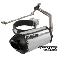 Exhaust Two Brothers Racing Aluminum Black (GY6)