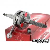 Crankshaft Airsal Racing 90cc 12mm, 45mm stroke/85mm conrod