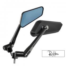 Mirror set F1 Series CNC Black M8/M10 (2X)