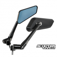 Mirror set F1 Series CNC Black (2X)