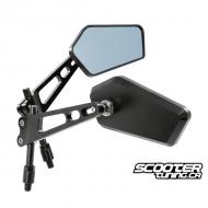 Mirror set Street Series CNC Black M8/M10 (2X)