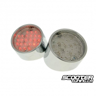 Tail Light set led Chrome (SR50 Minarelli)