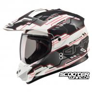 Helmet Gmax GM11 Dual Sport White / Black