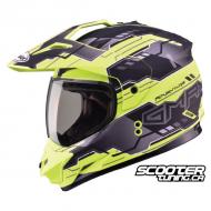 Helmet Gmax GM11 Dual Sport Hi-Vis