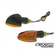 (2X) Indicator Light Black / Orange