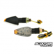 (2X) Indicator Light Led New Century Black